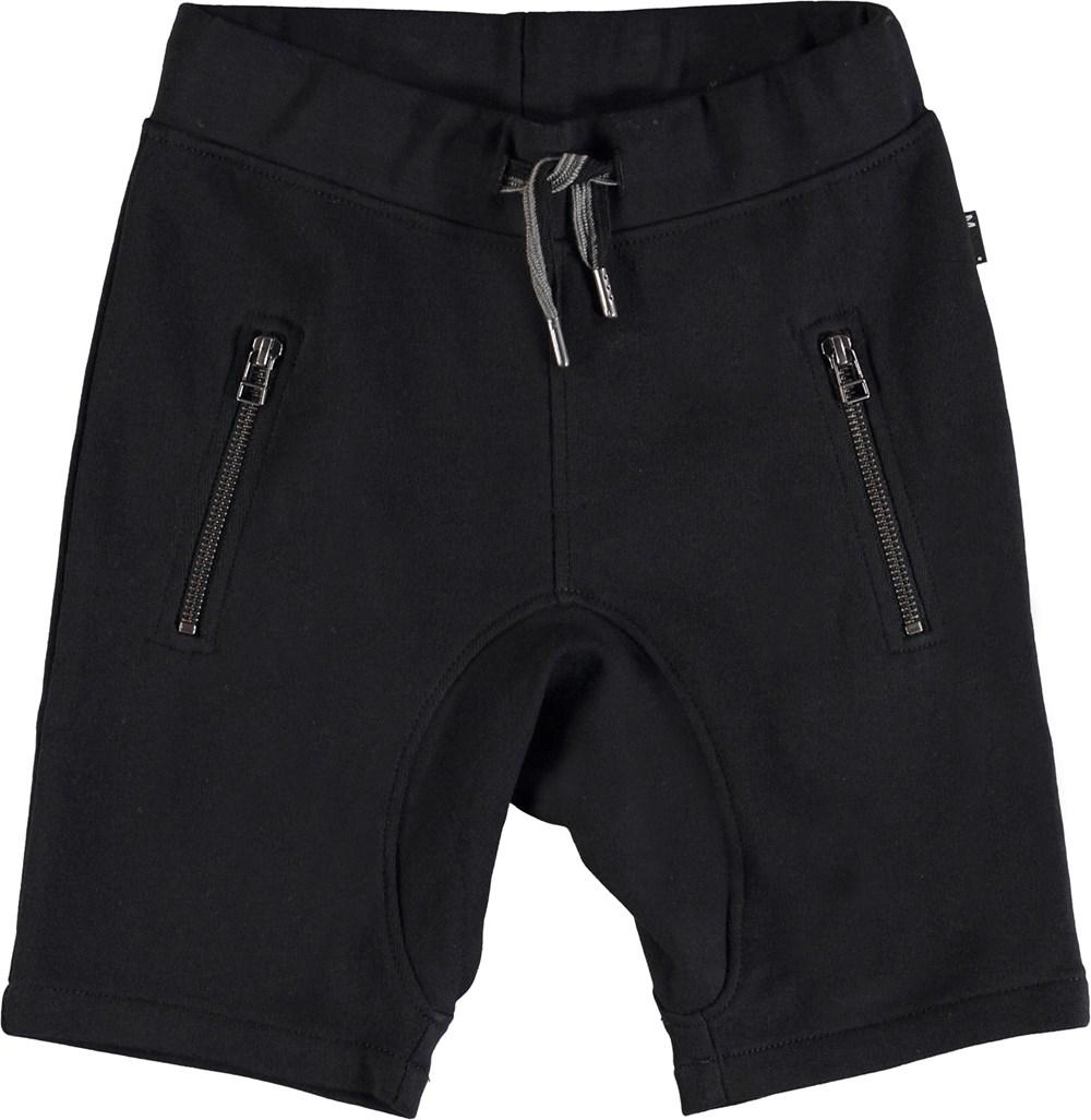 Ashtonshort - Black - Black sweatshorts.