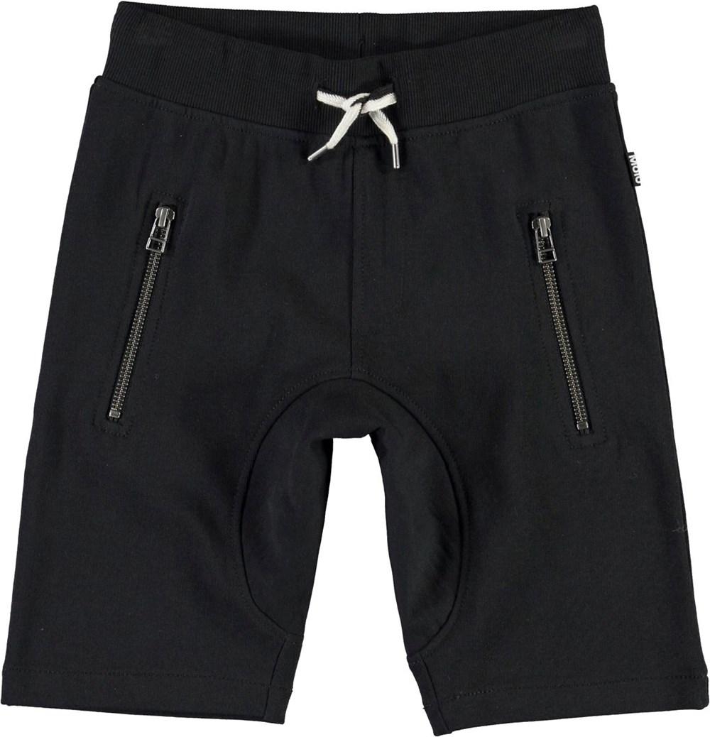 Ashtonshort - Black - Black organic sweatshorts