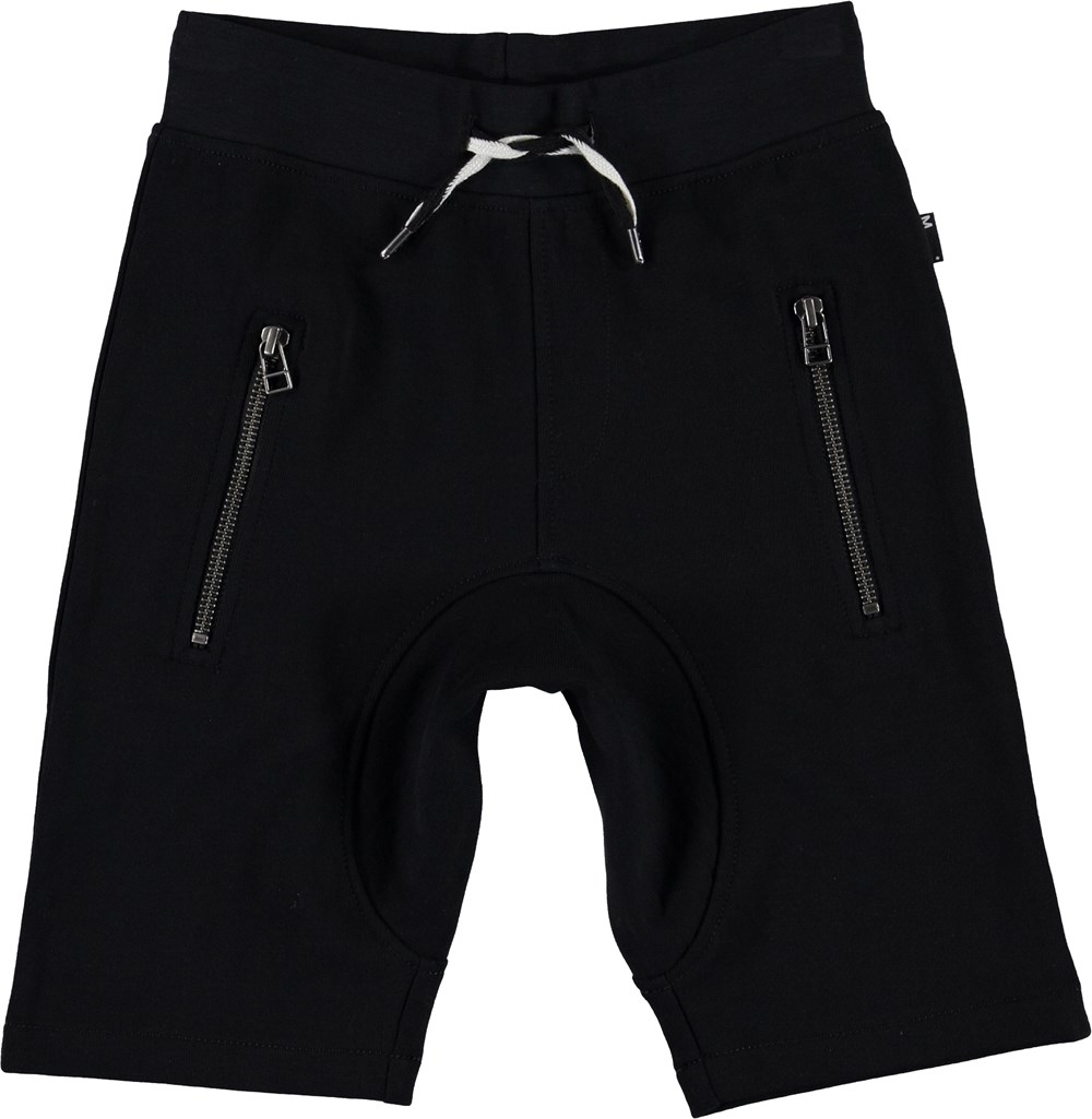 Ashtonshort - Black - Black sweat shorts