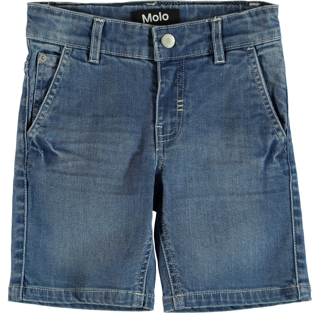 Asser - Blue Denim - Shorts