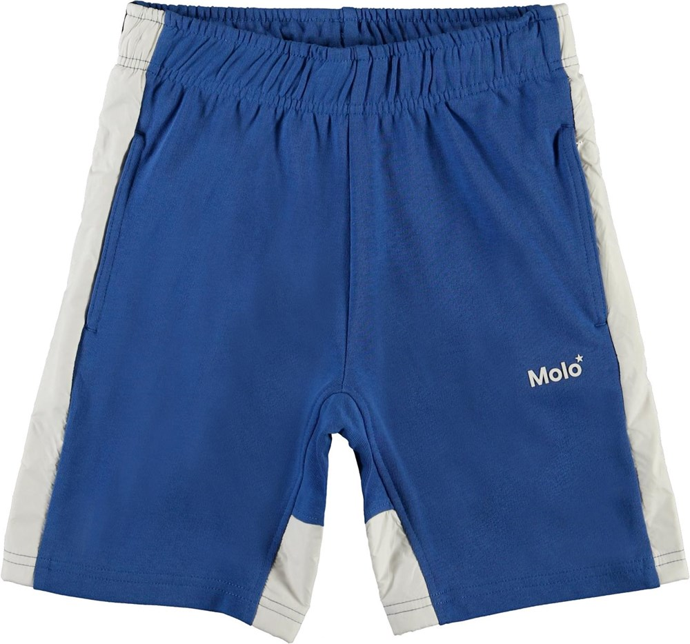 Axon - Cobalt - Blue and white organic sweatshorts