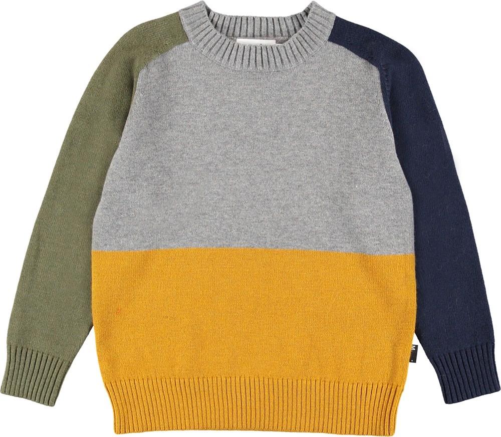 Buzz - Colourblock - Colour block knit top.
