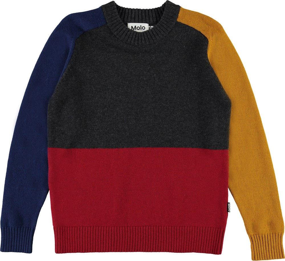 Buzz - Primary - Colour-blocked knit top