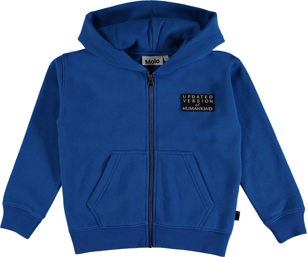 Macci - A_I_ Blue - Hoodie top with a text on the chest.