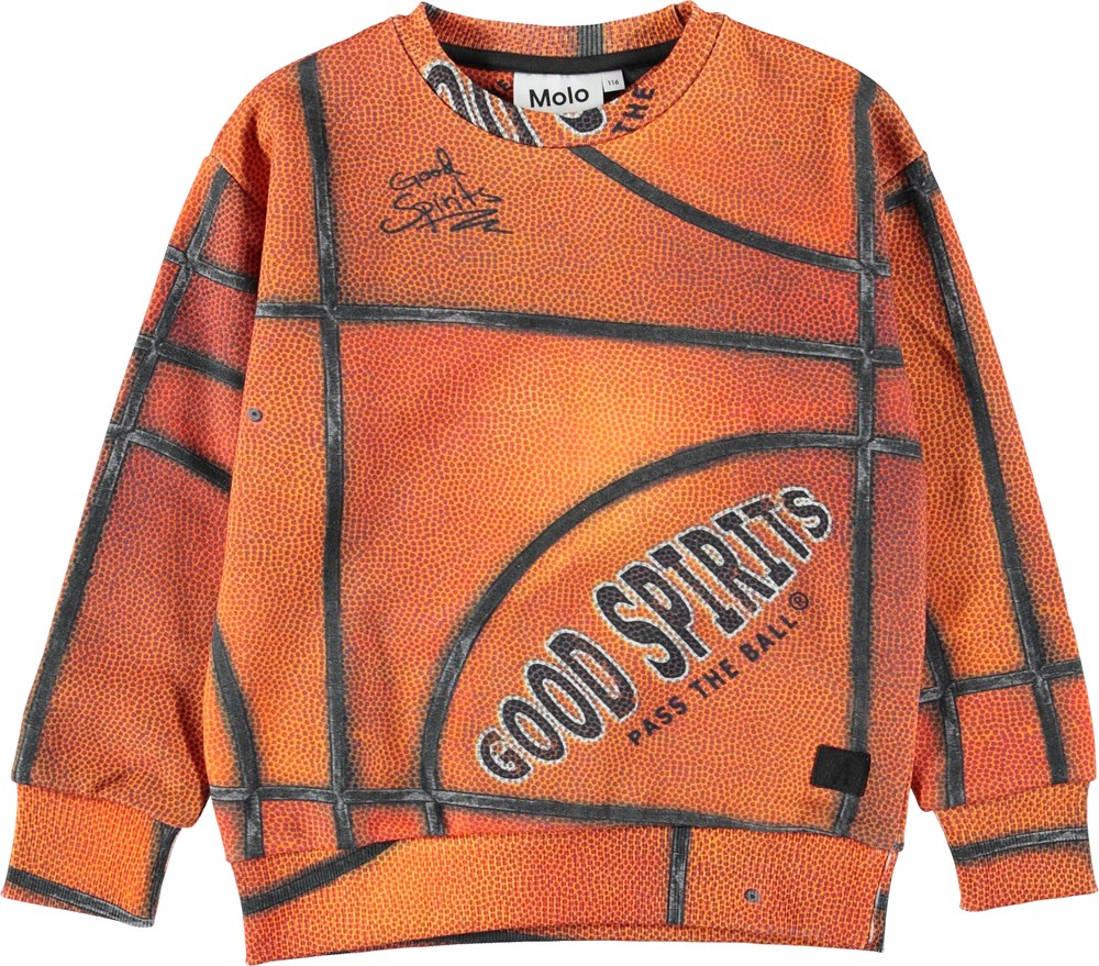Madsim - Basket Structure - Orange basketball sweatshirt