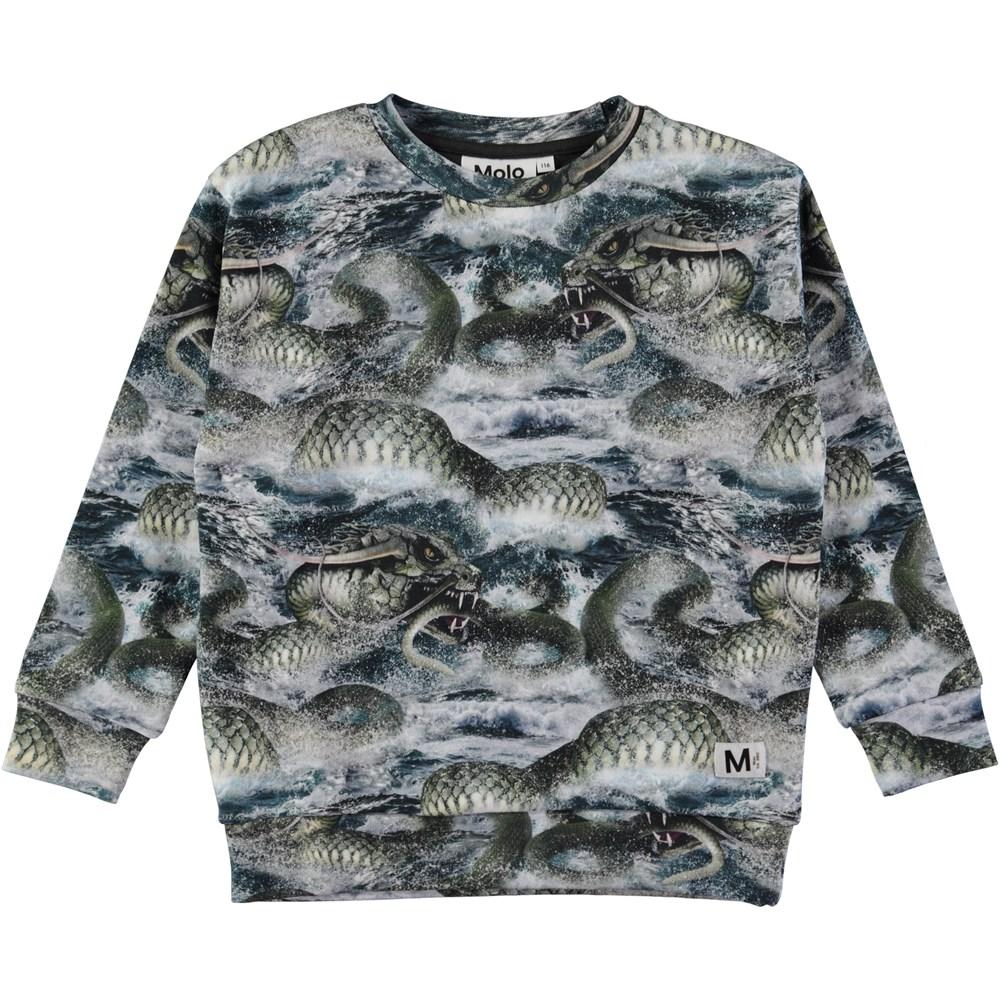 Madsim - Midgard Serpent - Sweatshirt with digital snake print
