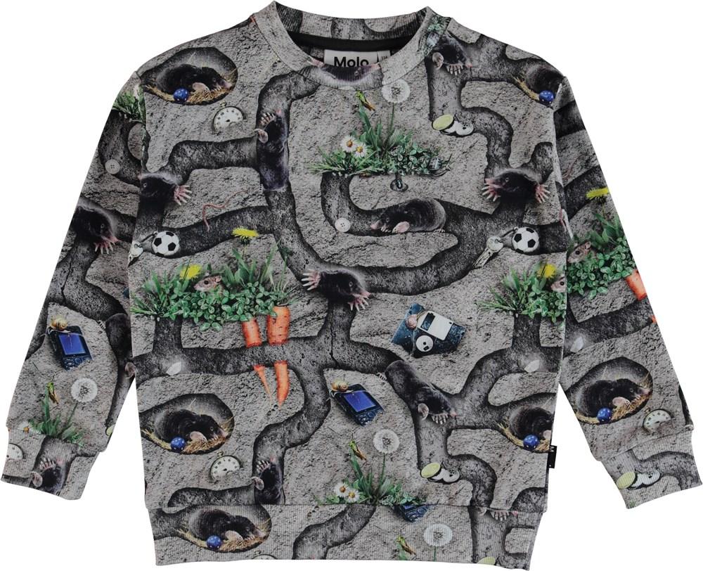 Madsim - Moles - Sweatshirt with mole print.