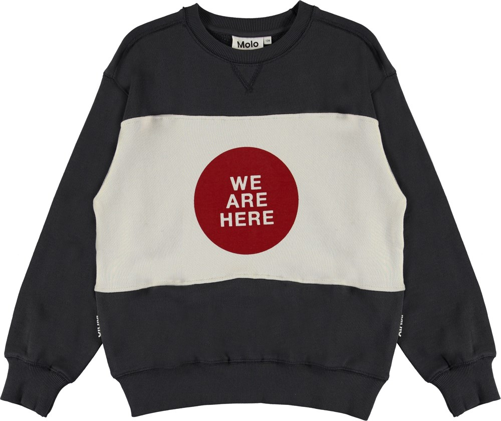Mann - Night Grey - We are here grey sweatshirt