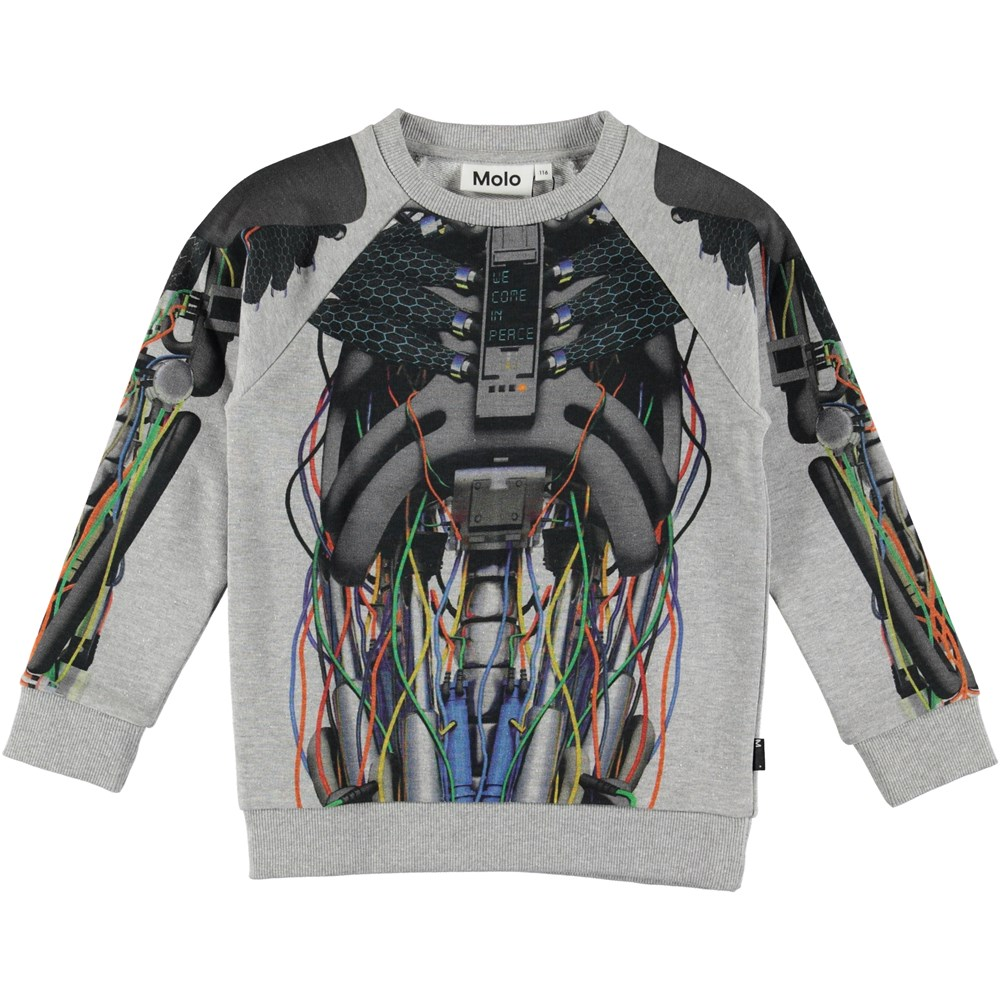 Marx - Cyborg - Sweatshirt with robot print.
