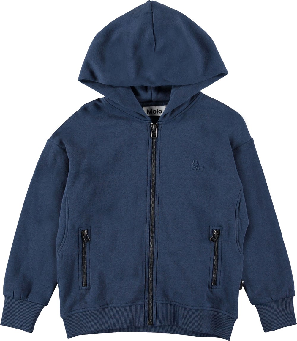 Mash - Infinity - Blue hoodie with zipper.