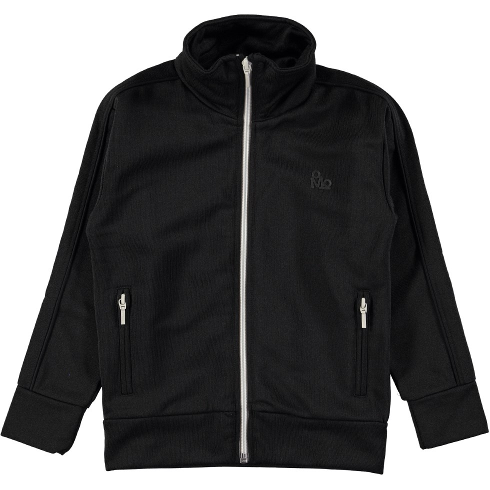 Master - Black - Black track sweatshirt with zipper