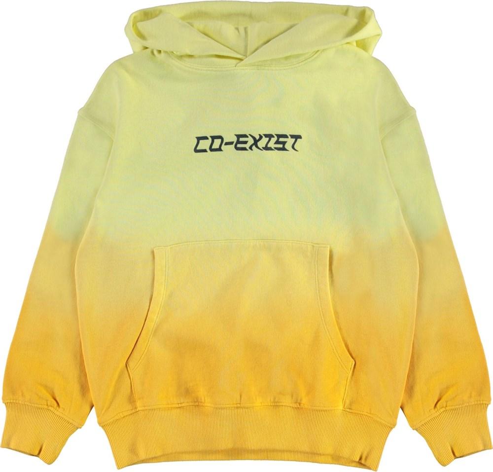 Matt - Yellow - Yellow tie-dye co-exist hoodie