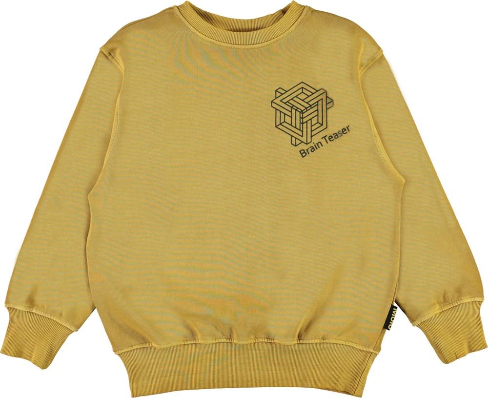 Mattis - Ancient Gold - Golden sweatshirt with brain teaser