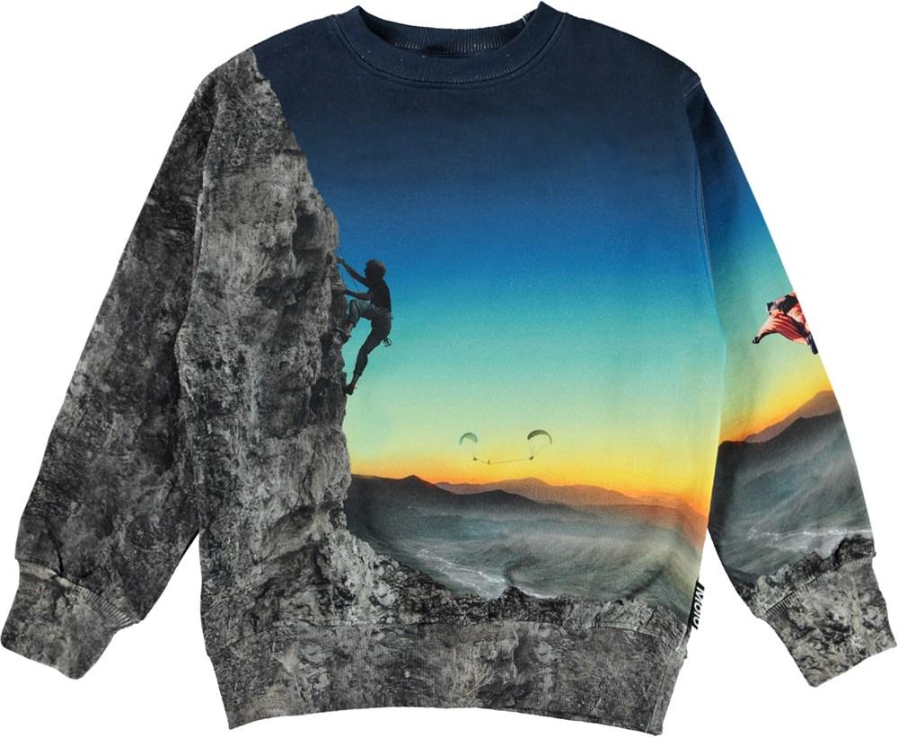 Mattis - Mount Extreme - Organic sweatshirt with extreme sport print