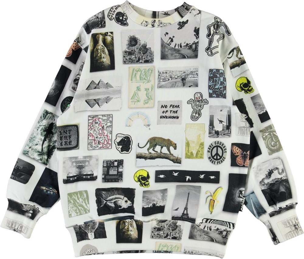 Mattis - Scrapbook - Organic sweatshirt with photo print