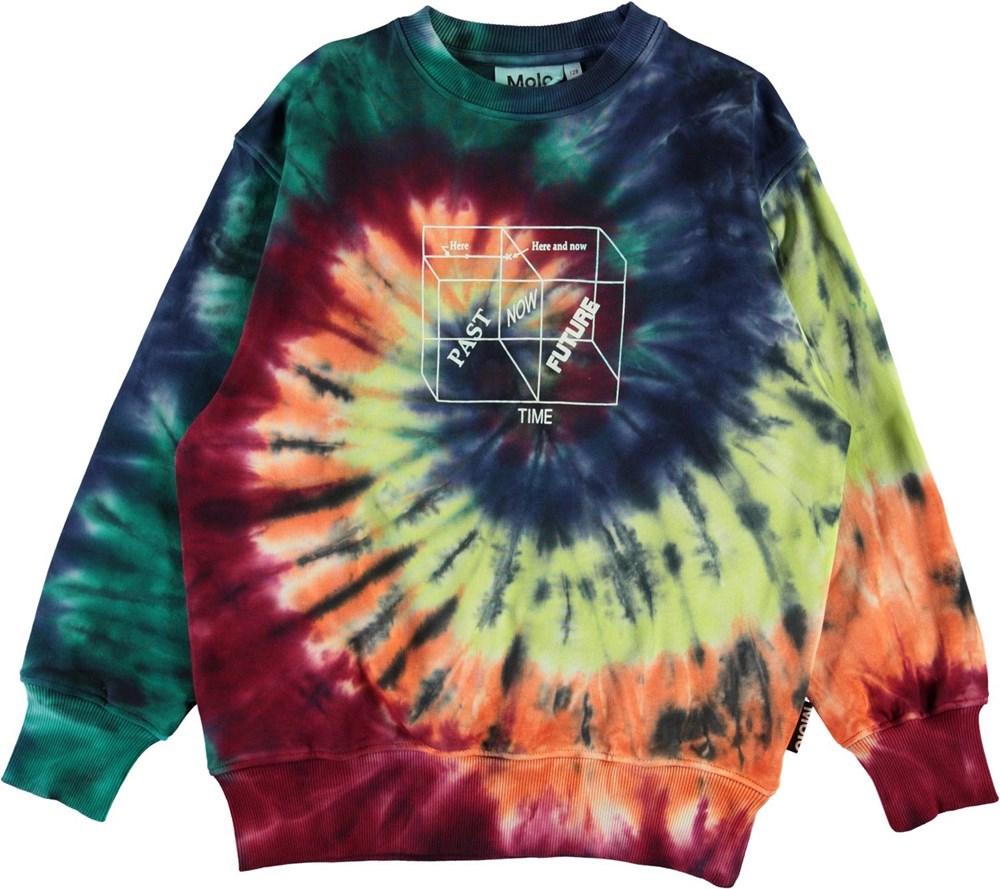 Mattis - Tie Dye Swirl - Tie-dye spiral sweatshirt