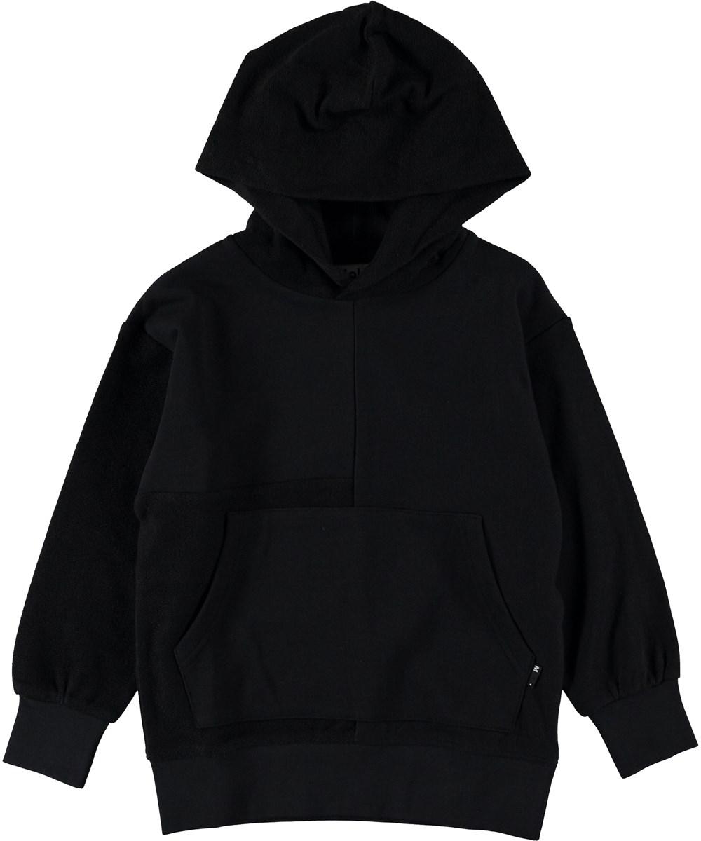 Meqo - Black - Black hoodie.