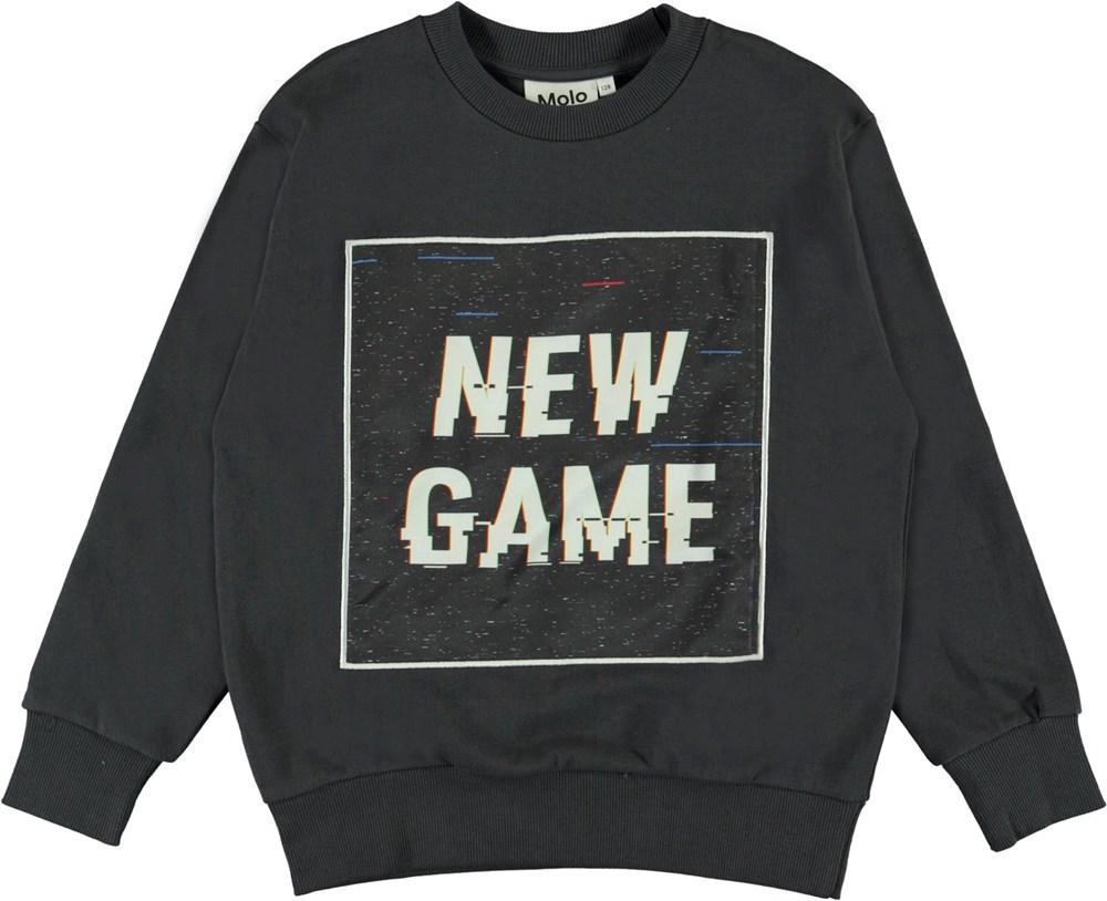 Mik - New Game - Black organic sweatshirt with game