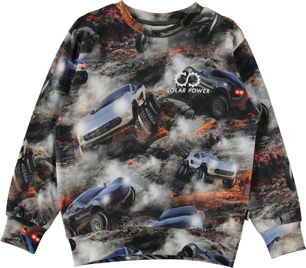 Mik - Terrain Goers - Organic sweatshirt with car print