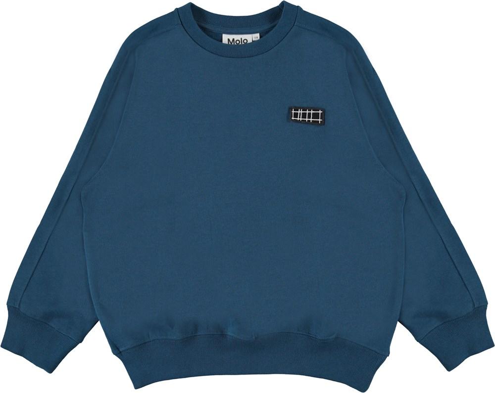 Mir - Sea - Blue organic sweatshirt
