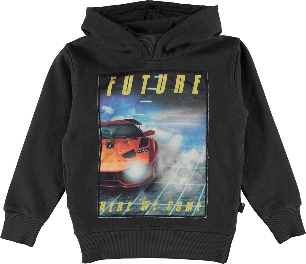 Mix - Pirate Black - Hoodie top wtih car print.