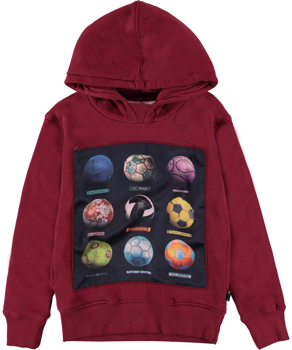 Mix - Wild Madder - Hoodie with football planets.