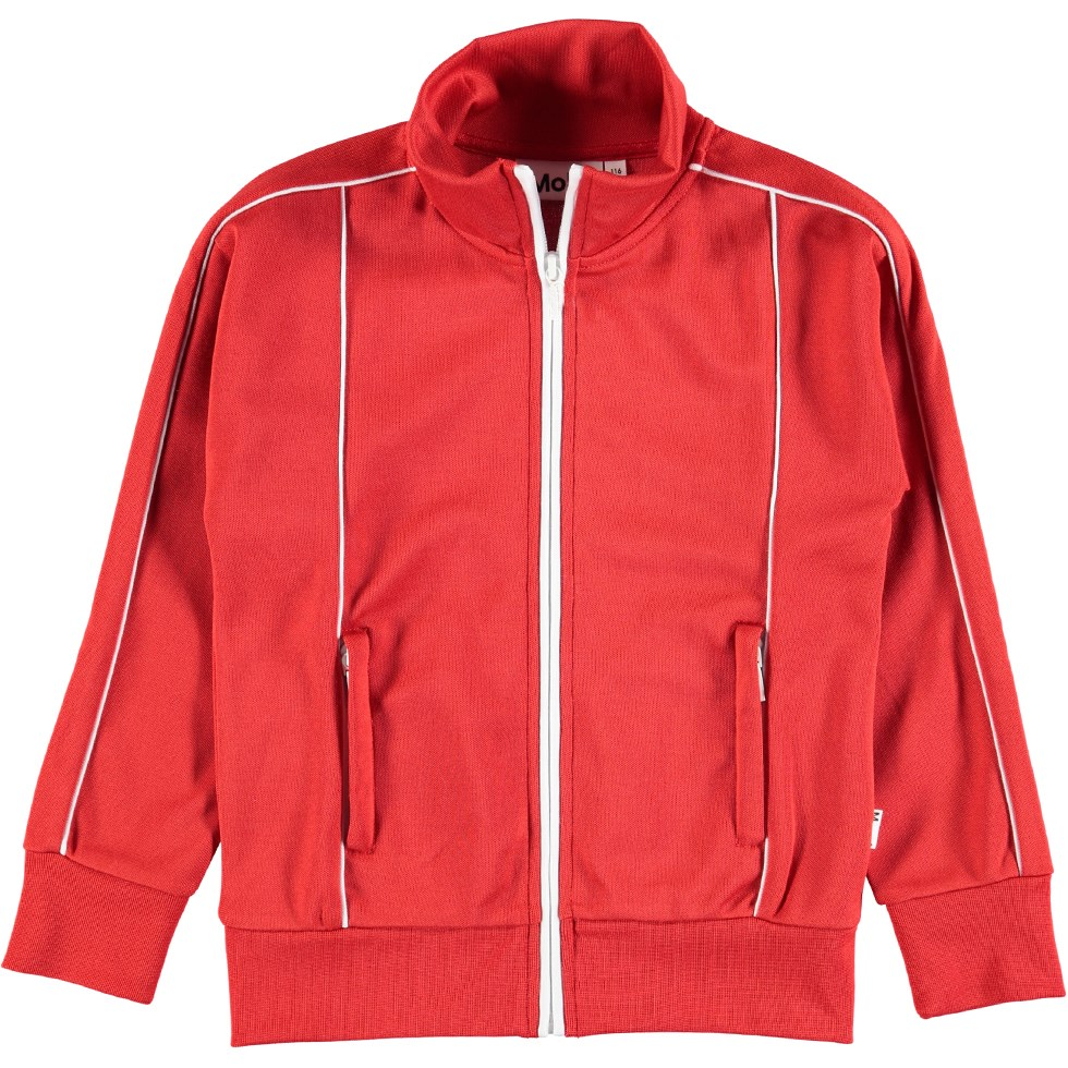 Moby - Heart - Red track sweatshirt with zipper