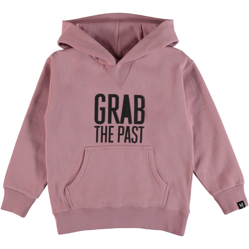 Monez - Pink Granite - Rose sweatshirt with a rubber text.