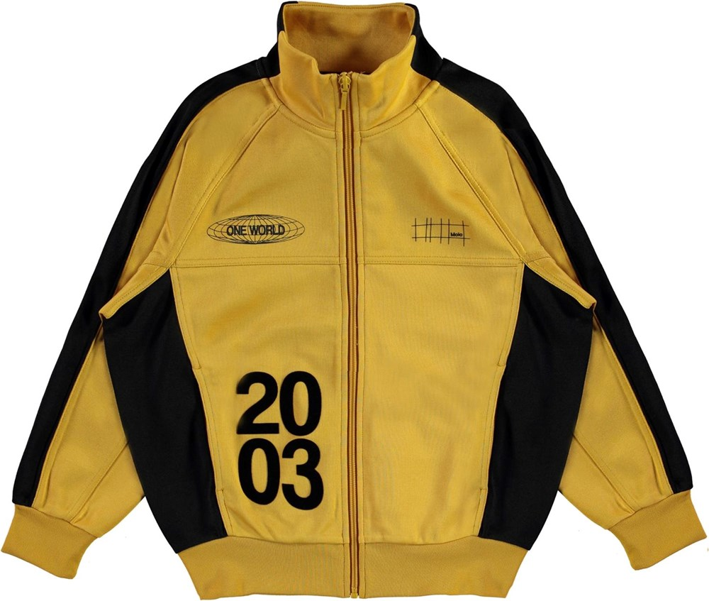 Monrad - Nugget Gold - Mustard yellow track jacket with 2003