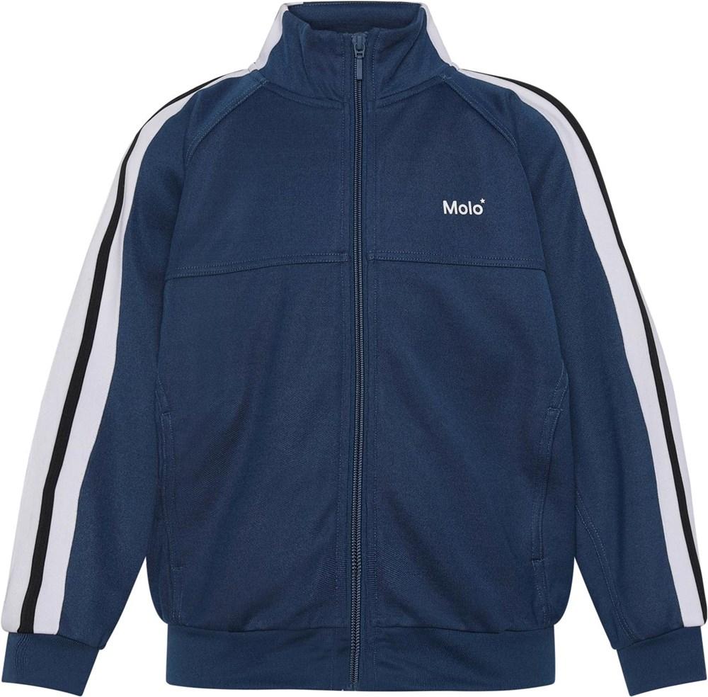 Monrad - Sea - Blue jacket with black and white stripes