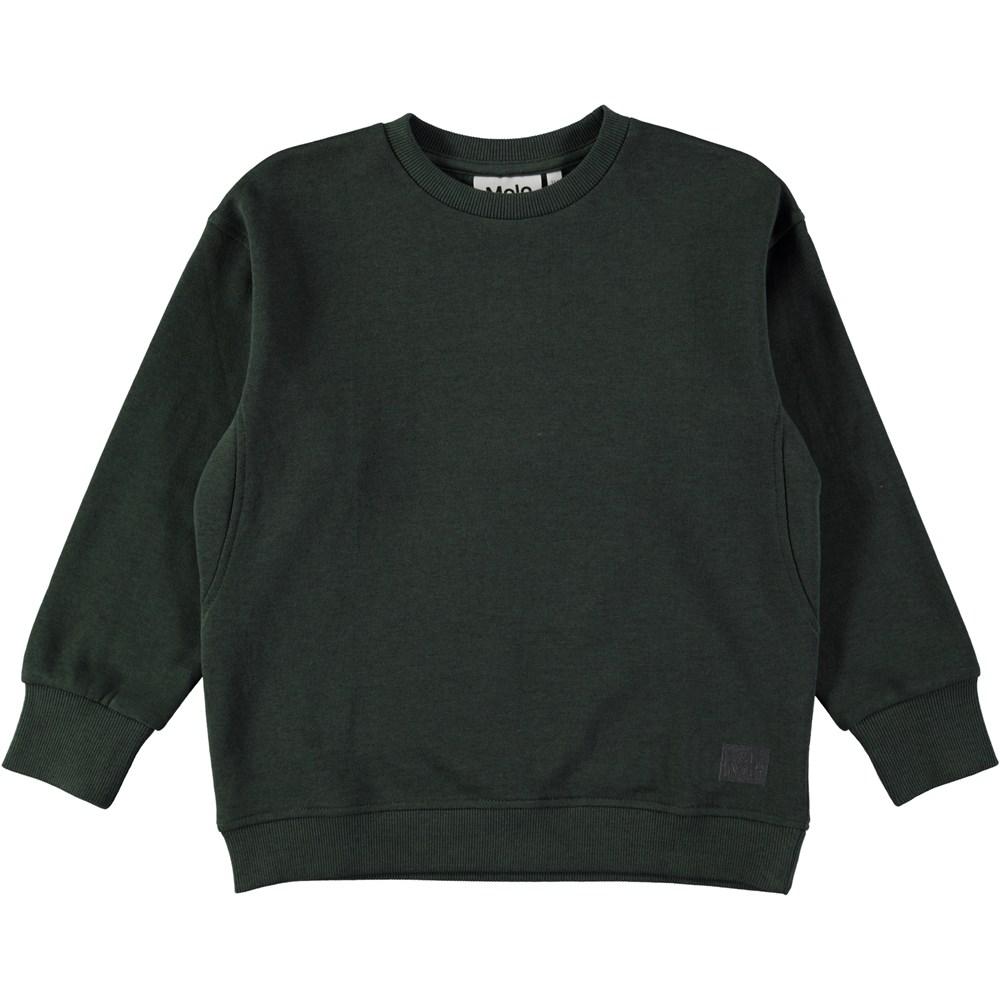 Mons - Deep Forest - Dark green sweatshirt with rib