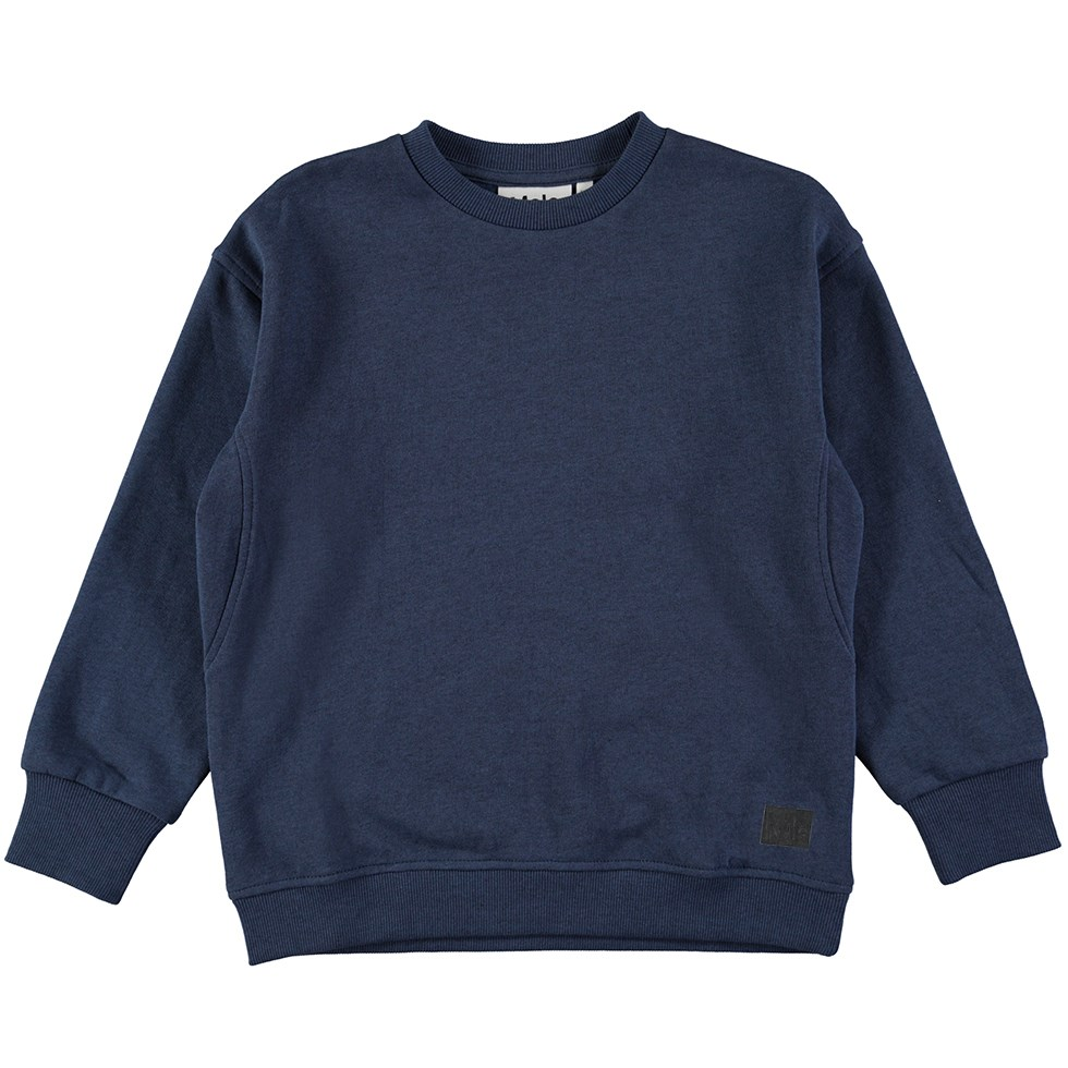 Mons - Infinity - Dark blue sweatshirt with rib