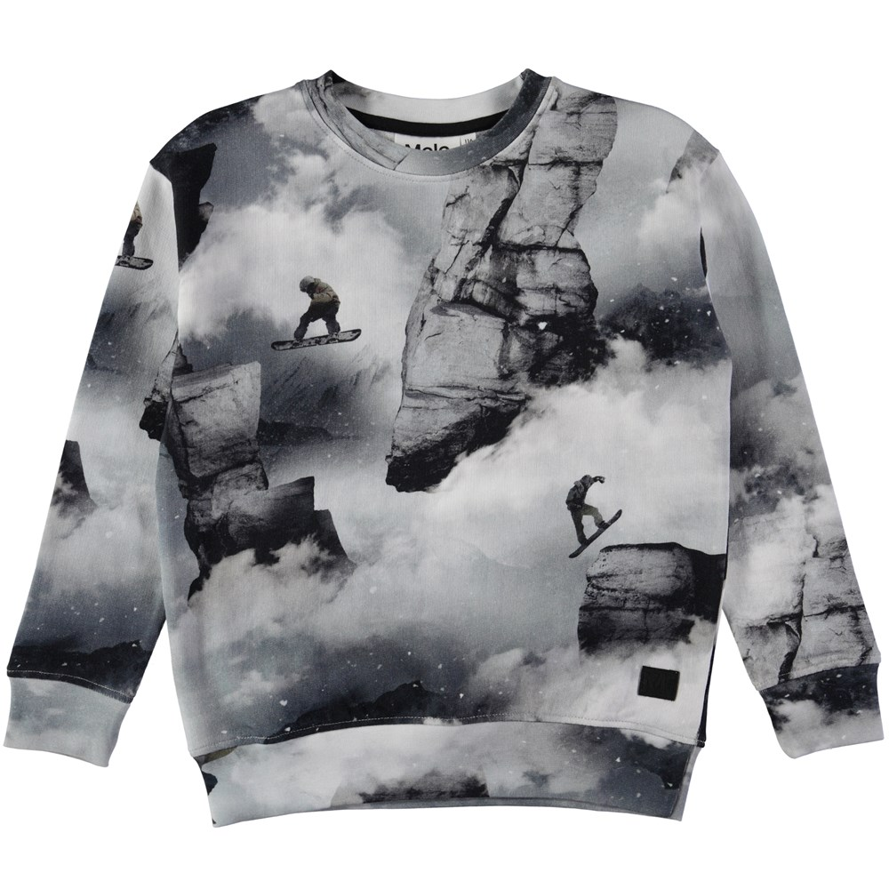 Morell - Snowboarders - Sweatshirt with a digital snowboarder print