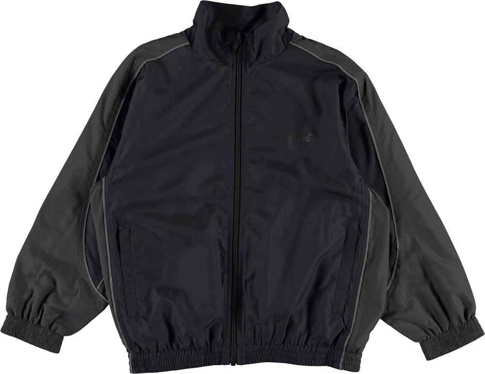 Morki - Black - Black and grey track jacket