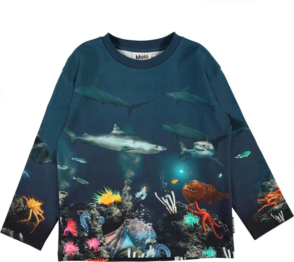 Mountoo - Aquatic Life - Long sleeve top with ocean print