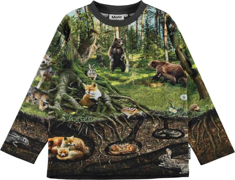 Mountoo - Forest Living - Long sleeve top with forest animals