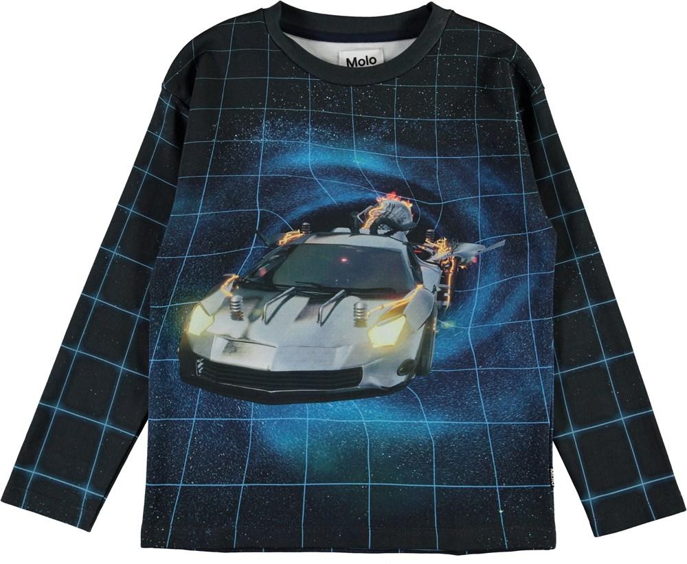 Mountoo - Time Traveller - Organic top with car print