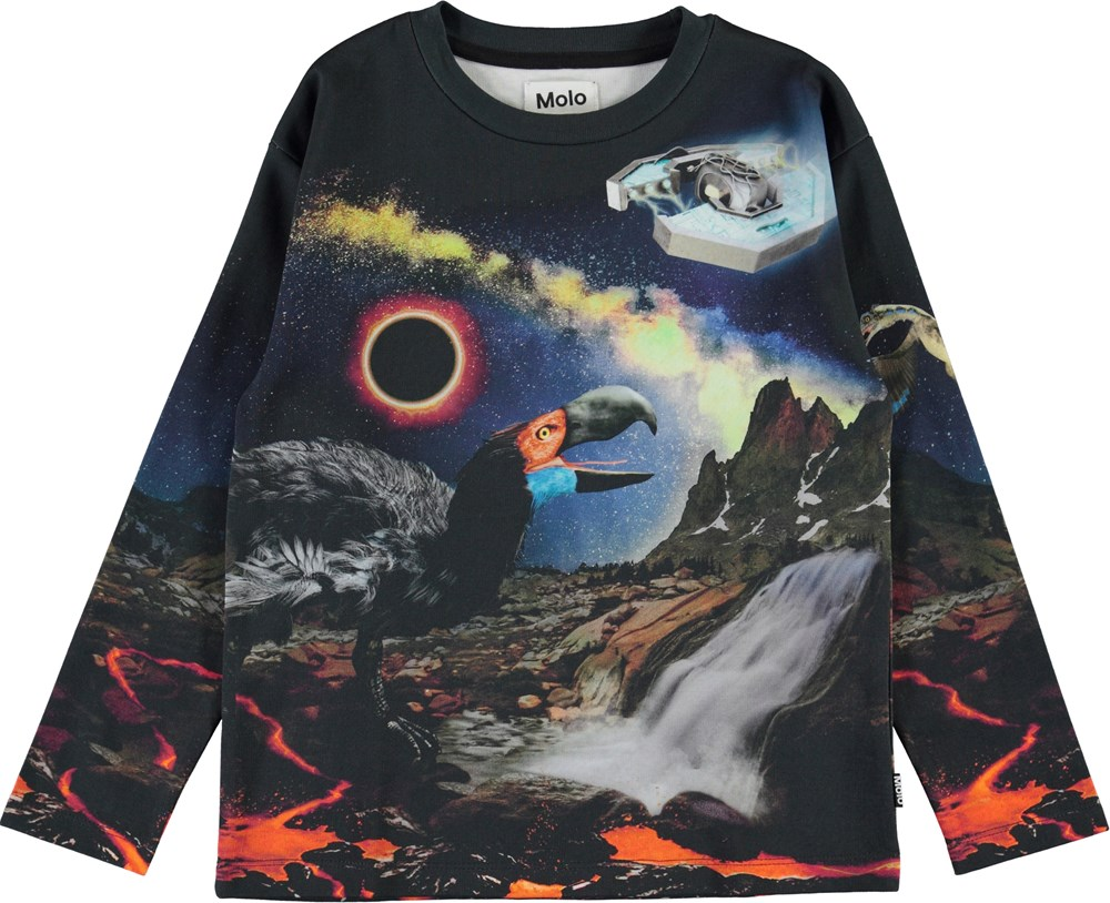 Mountoo - Wild Past - Organic top with animals from the past