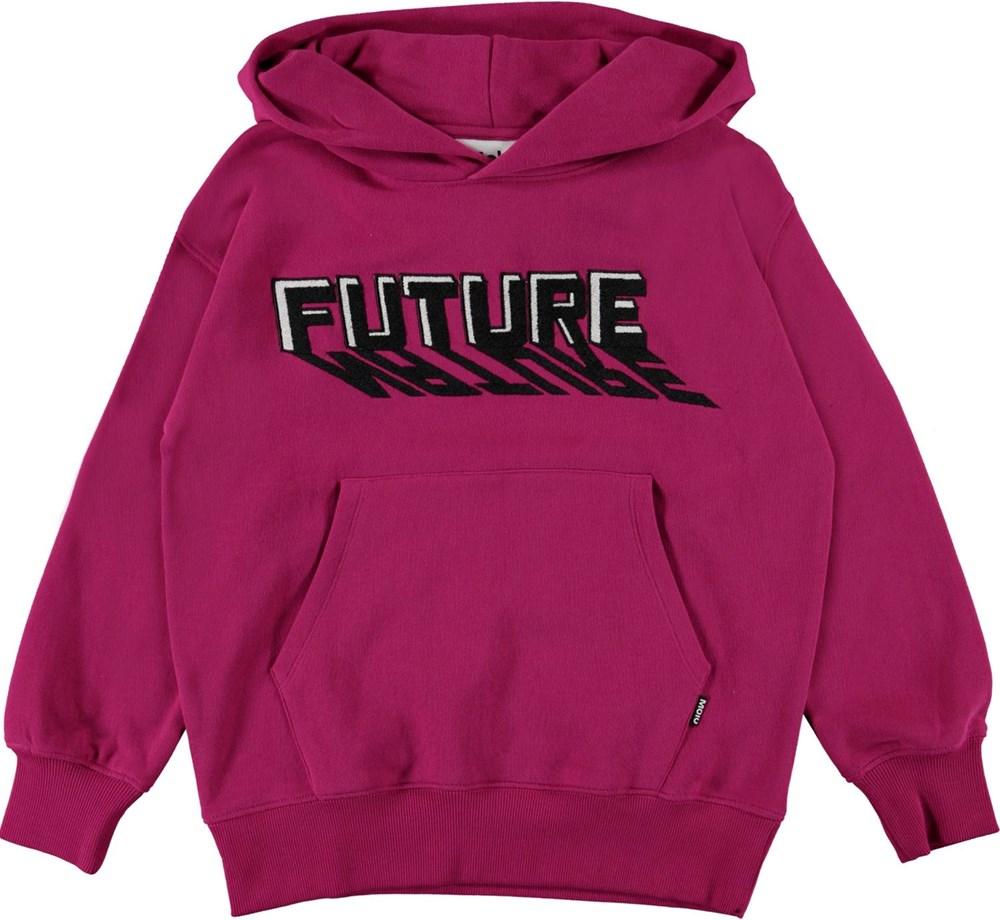 Moz - Fuchsia - Fuchsia organic hoodie future