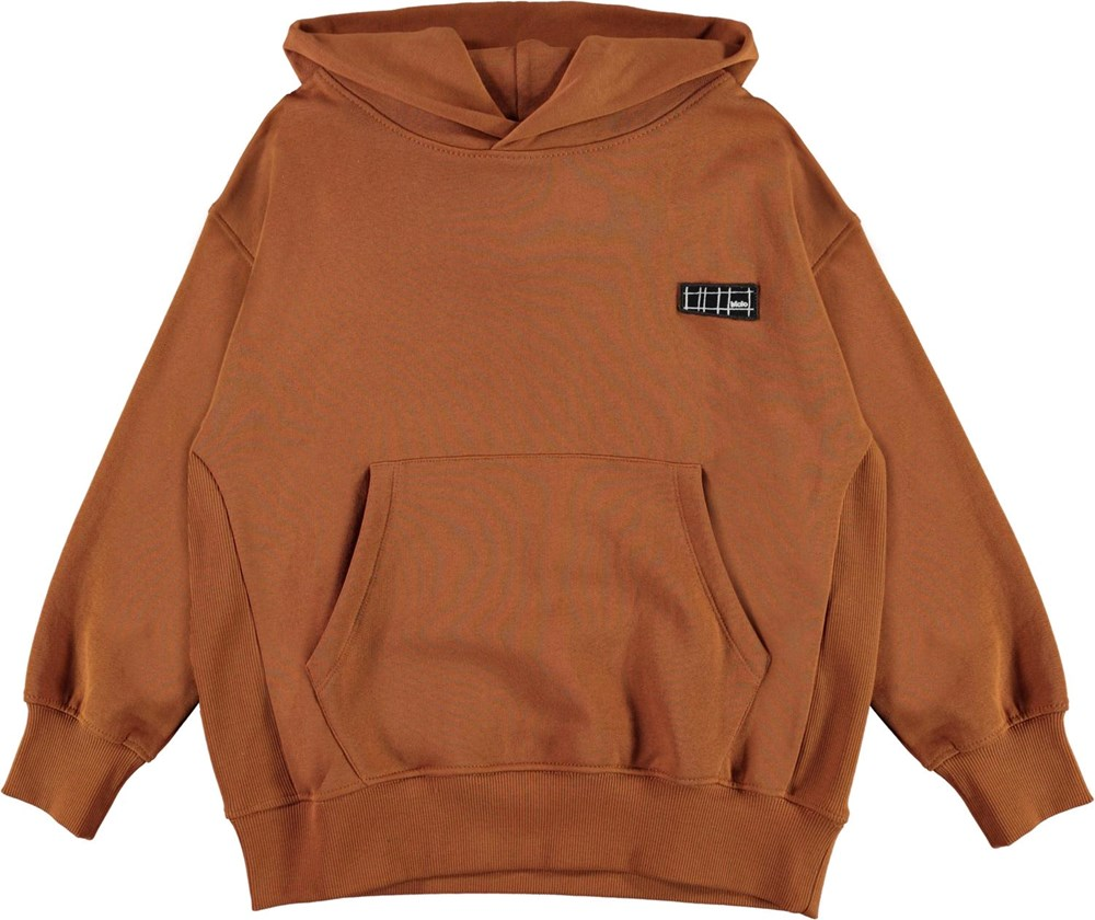 Moz - Iron - Brown organic hoodie
