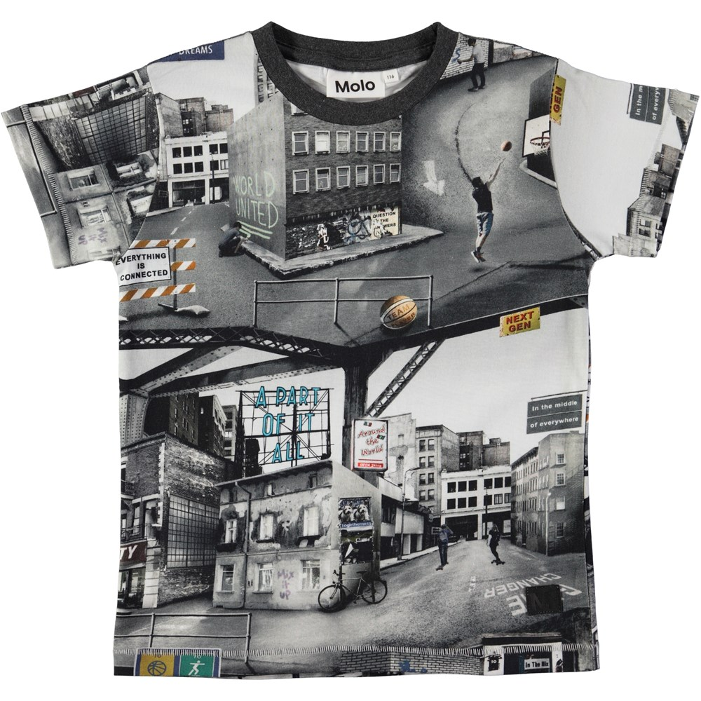 Ragnij - City Text - T-shirt with digital city text print