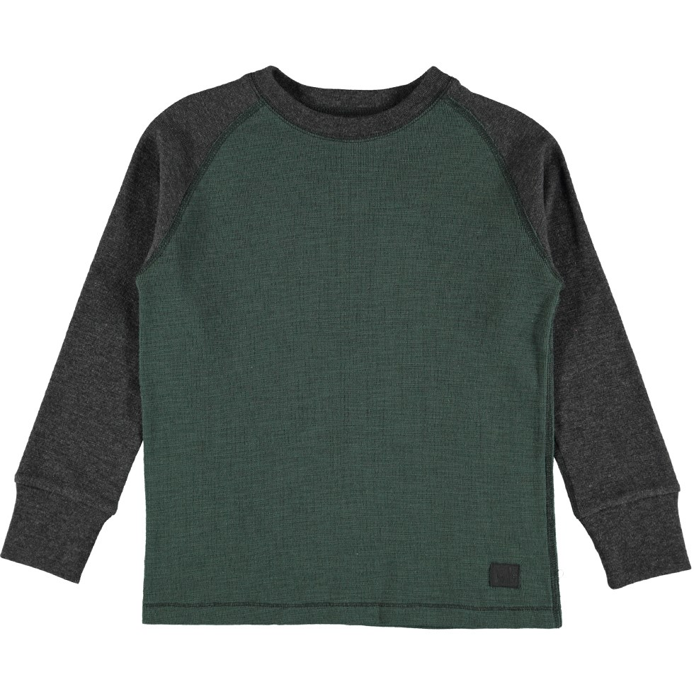 Rakett - Deep Forest - Long sleeve top in green and grey