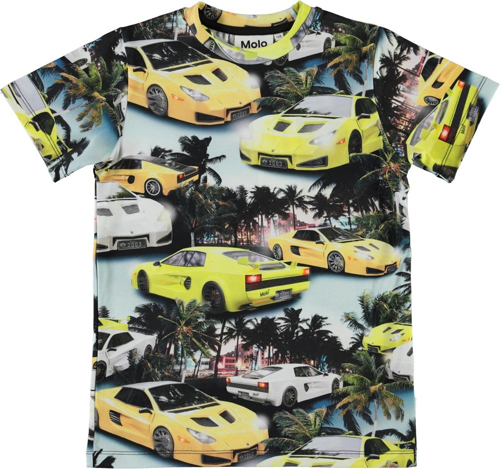 Ralphie - Fast Cars - Organic t-shirt with car print