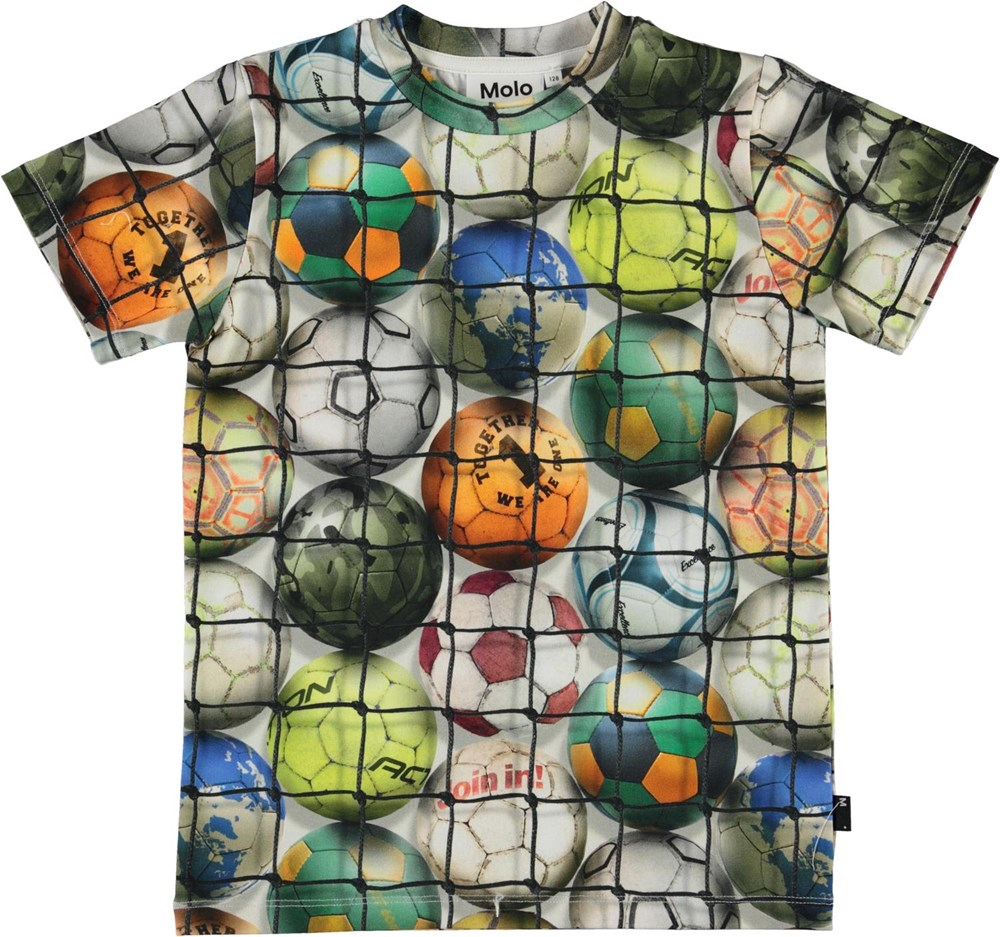 Ralphie - Footballs - Organic t-shirt with football print
