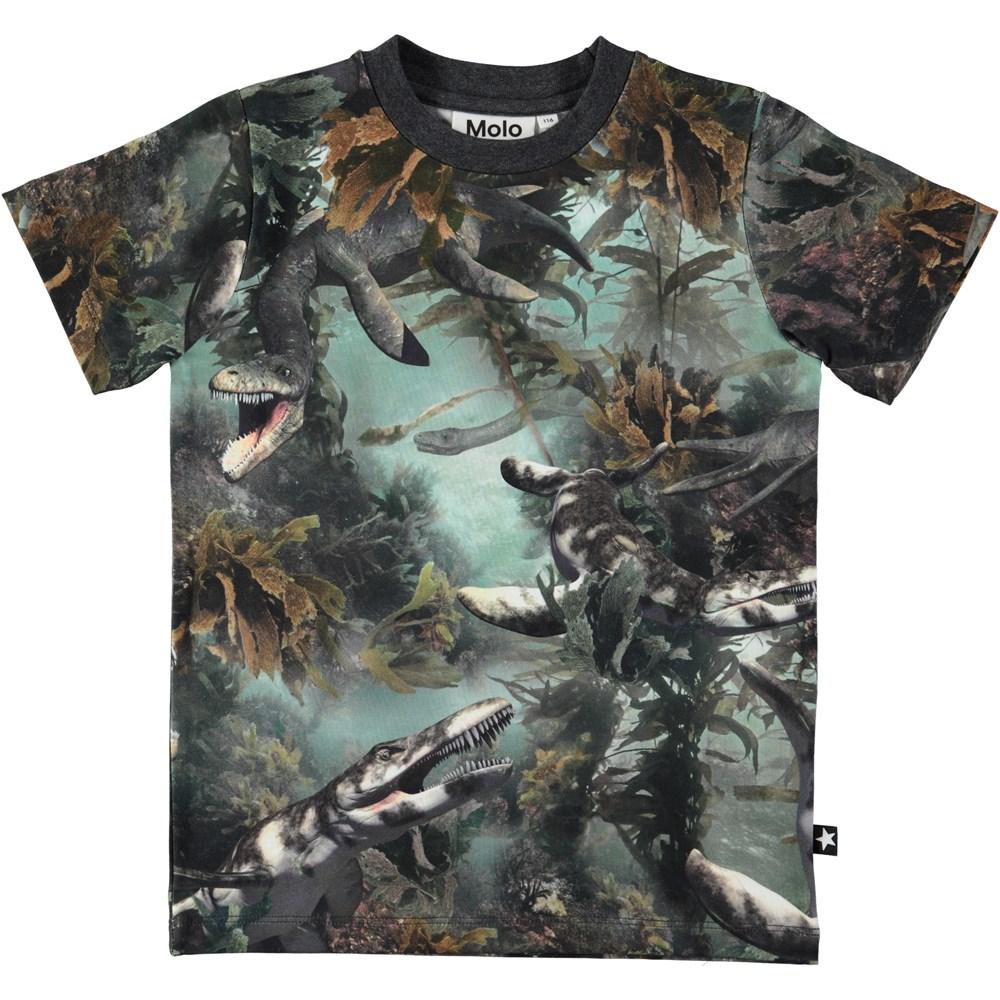 Ralphie - Lake Monters - Short sleeve t-shirt with digital lake monsters print
