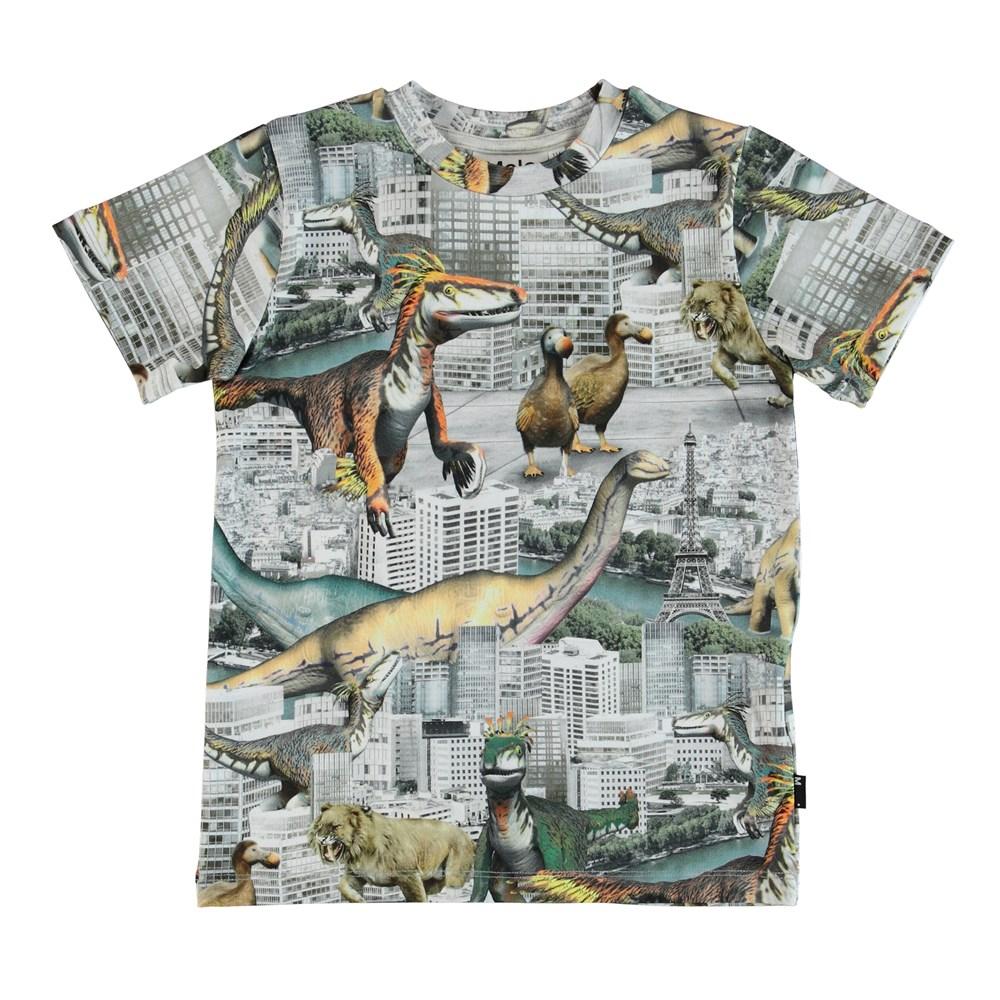 Ralphie - Revival Animals - T-shirt with dinosaur print.
