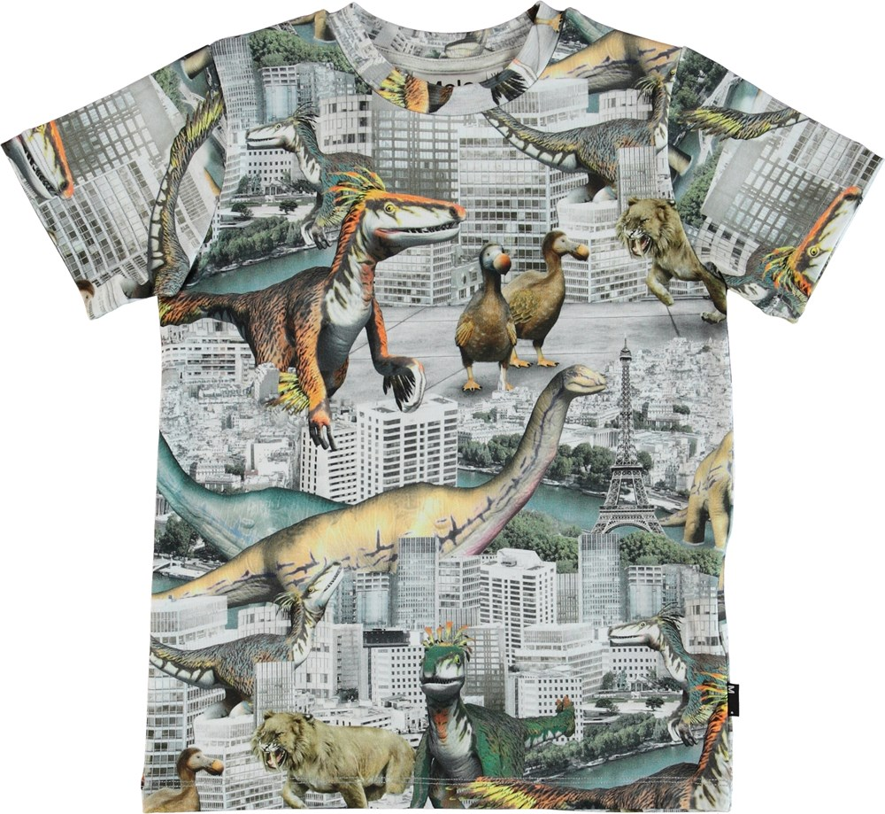 Ralphie - Revival Animals - T-shirt with dinosaur print.
