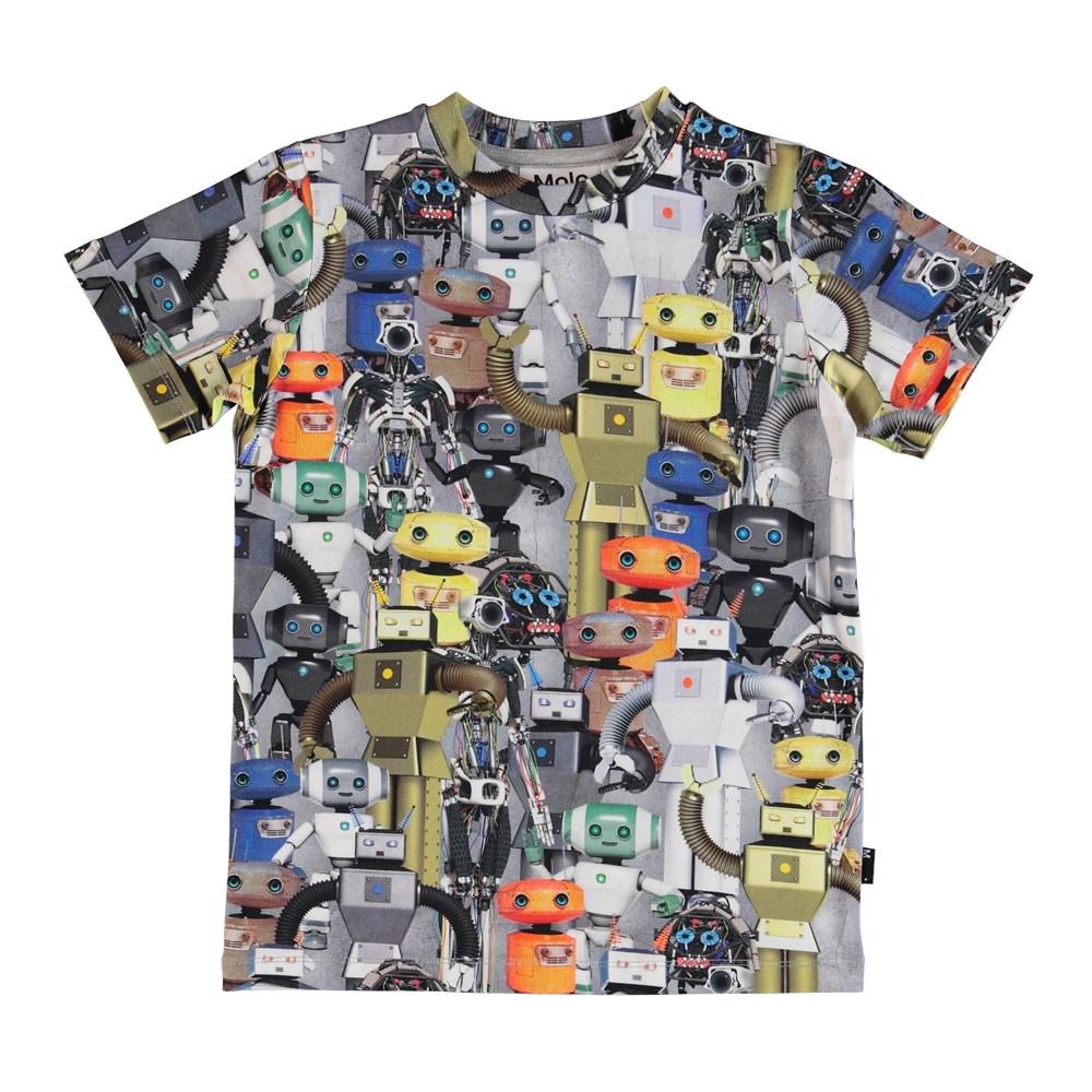Ralphie - Robots - T-shirt with a robot print.