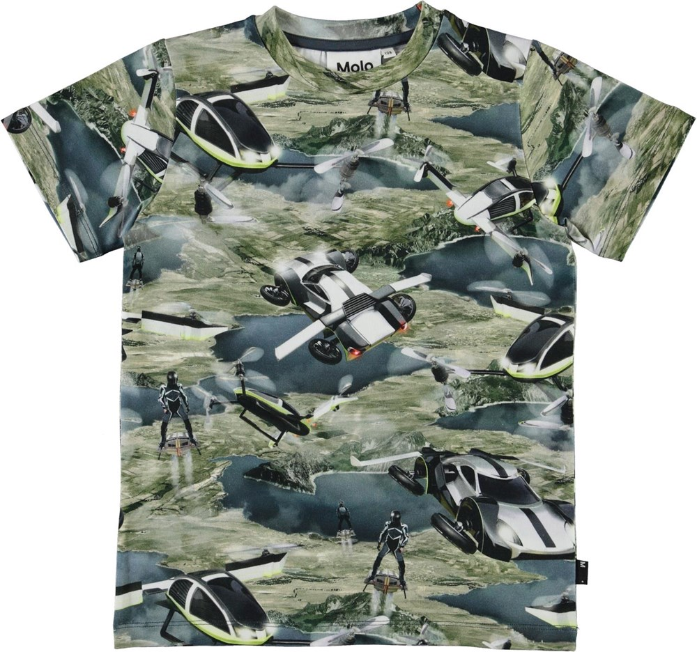 Ralphie - Up In The Air - Organic t-shirt with flying cars