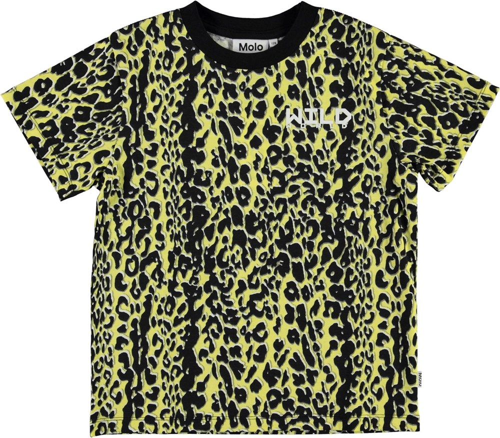 Rame - Shadow Leopard - Yellow and black leopard t-shirt